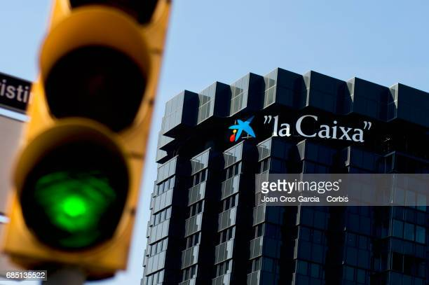 Caixa Bank building office on May 17 2017 in Barcelona Spain 'n'n