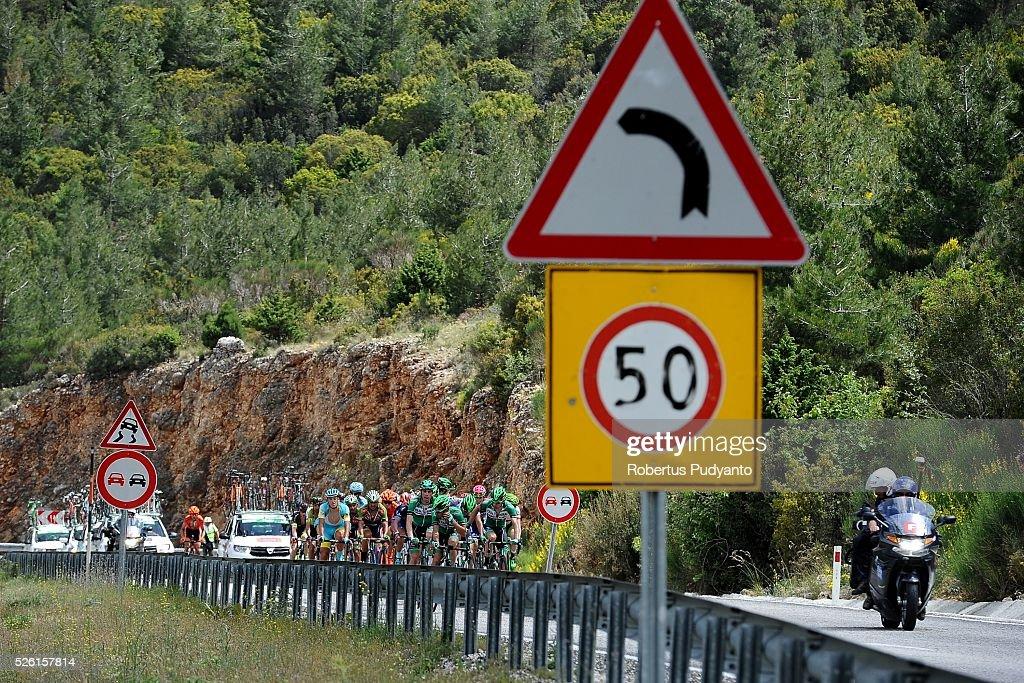 Caja Rural-Seguros RGA cyclists lead the peloton during Stage 6 of the 2016 Tour of Turkey, Kumluca to Elmali (117 km) on April 24, 2016 in Kumluca, Turkey.