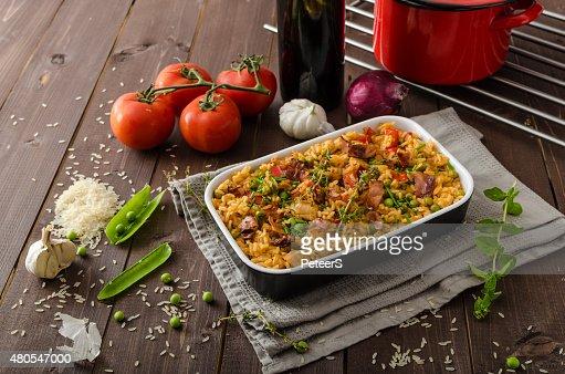 Cajún pollo con arroz : Foto de stock