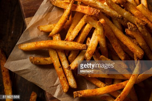 Cajun Seasoned French Fries : Stock Photo