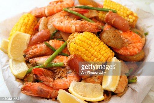 Cajun Shrimp Boil Stock Photo | Getty Images