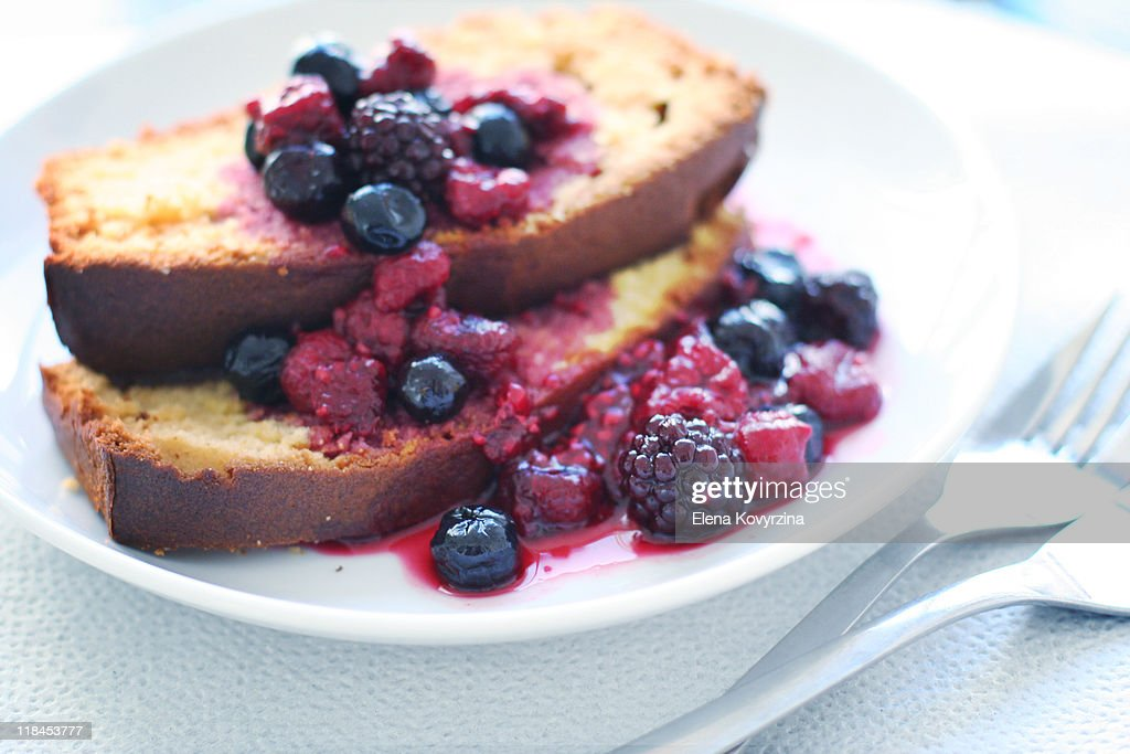 Cake and Berries : Stock Photo