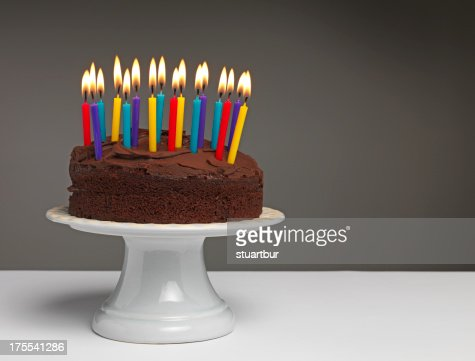 Cake and Candles : Stock Photo