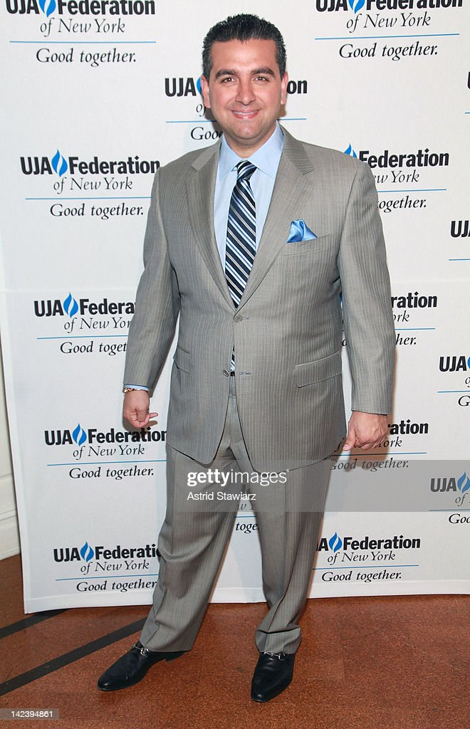 'Cake Boss' host <a gi-track='captionPersonalityLinkClicked' href=/galleries/search?phrase=Buddy+Valastro&family=editorial&specificpeople=5810322 ng-click='$event.stopPropagation()'>Buddy Valastro</a> attends the 2012 UJA-Federation Of New York's Leadership Awards Dinner at 583 Park Avenue on April 3, 2012 in New York City.