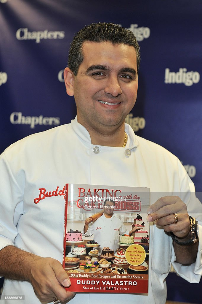 'Cake Boss' Star <a gi-track='captionPersonalityLinkClicked' href=/galleries/search?phrase=Buddy+Valastro&family=editorial&specificpeople=5810322 ng-click='$event.stopPropagation()'>Buddy Valastro</a> visits Indigo to promote his new book 'Baking with the Cake Boss: 100 of Buddy's Best Recipes and Decorating Secrets' at Indigo Manulife Centre on November 21, 2011 in Toronto, Canada.