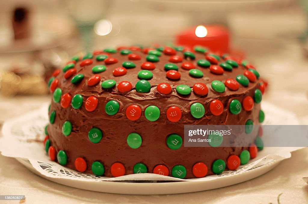 Cake covered in chocolate : Stock Photo