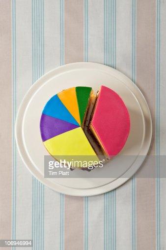 A cake designed as a pie chart. : ストックフォト