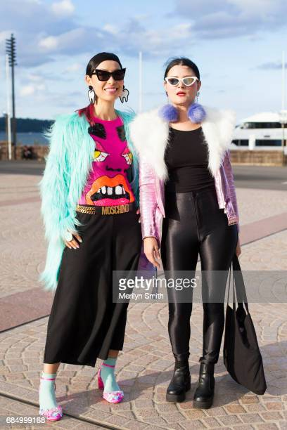 Cake Designer Katherine Sabbath wearing an Unreal fur jacket Doodad and Fandango accessories Discount Universe top Moschino belt Asos shoes Marisa Mu...