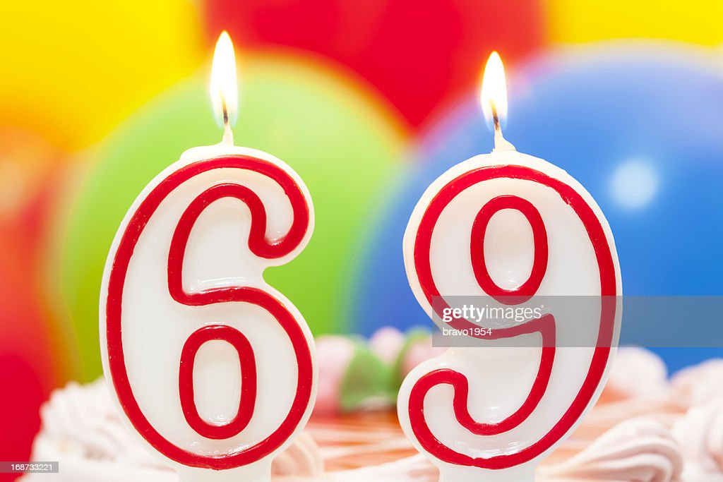 Cake For 69th Birthday Stock Photo Getty Images