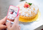 Cake in mobile phone