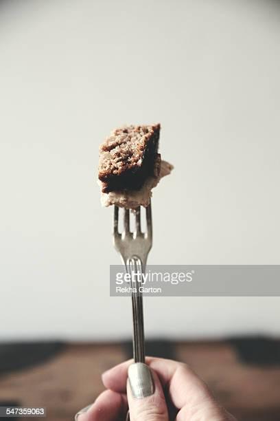 Cake on a fork