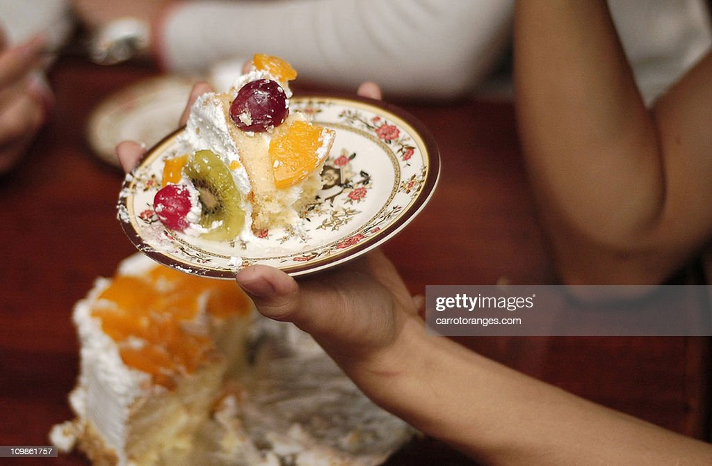 Cake on a plate : Stock Photo