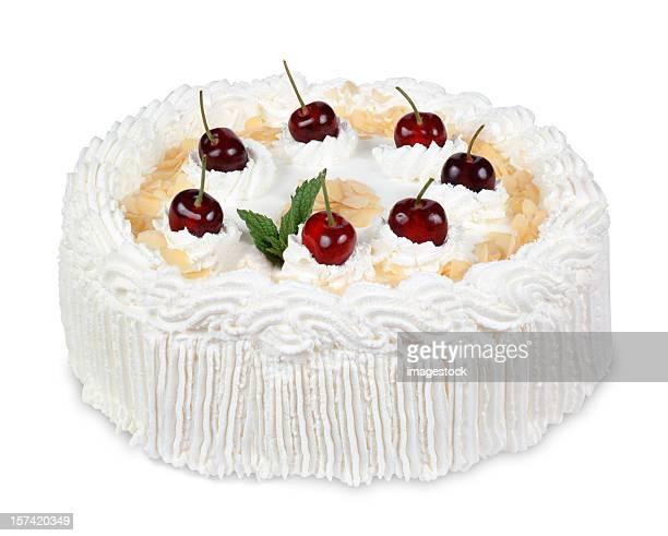 Kuchen auf Weiß