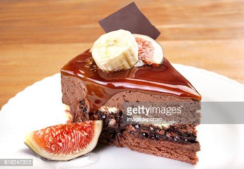 cake slice in plate : Foto de stock