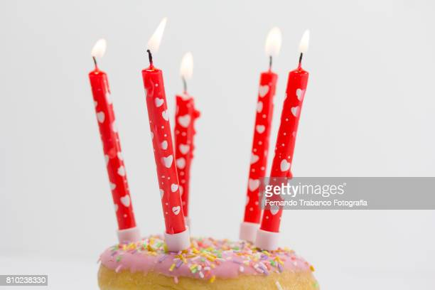 Cake with birthday candles