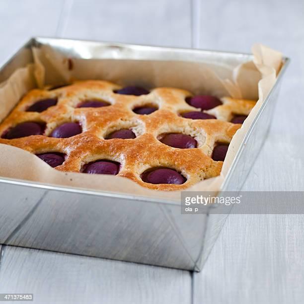 Kuchen mit Pflaumen