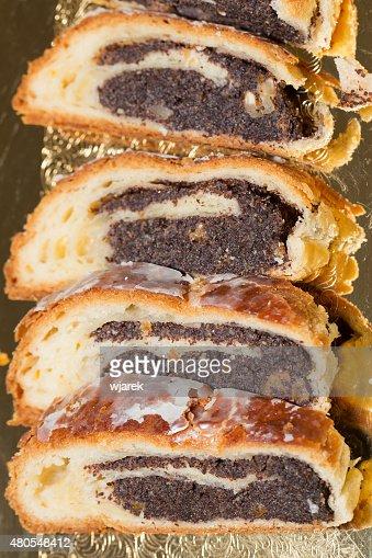 cake with the poppy : Stock Photo
