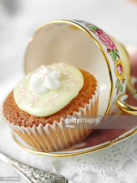 Cake,Cup and Saucer