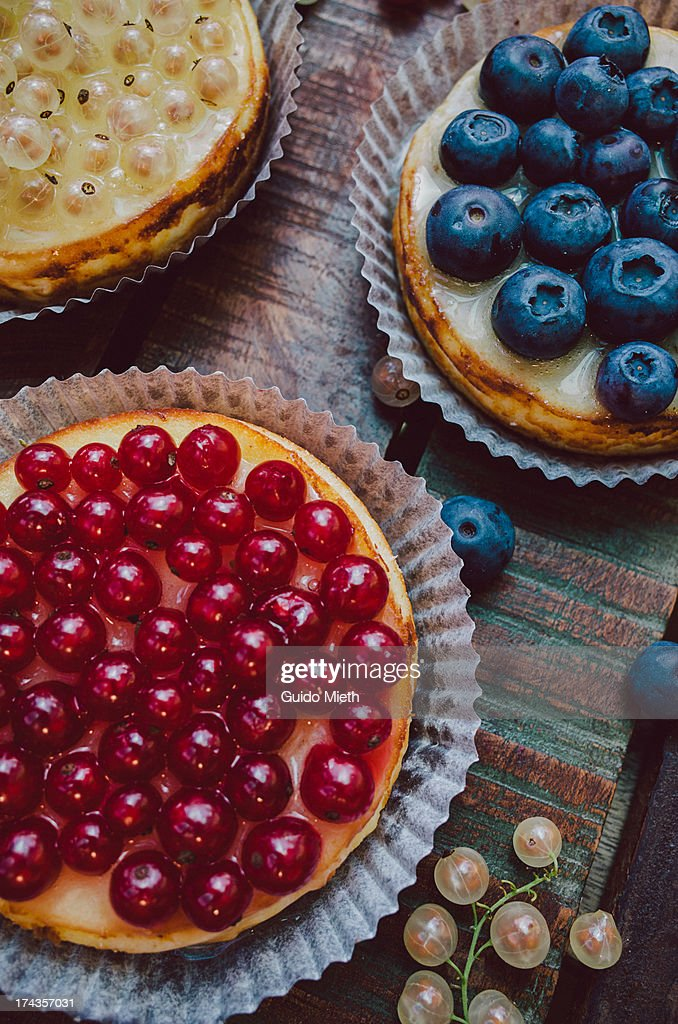 Cakes with berries. : Stock Photo