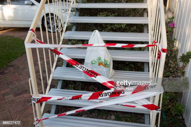 Cakeshop delivery at the steps of Schapelle Corby's mother's house on May 28 2017 in Brisbane Australia Schapelle Corby was arrested in 2004 for...