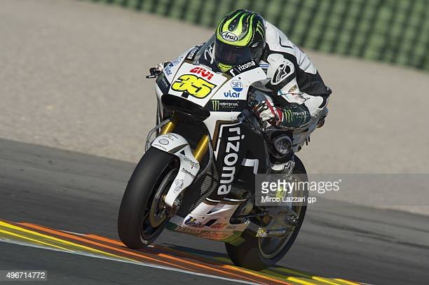 Cal Crutchlow of Great Britain and CWM LCR Honda heads down a straight during the second day of test during the MotoGp Tests In Valencia at Ricardo...