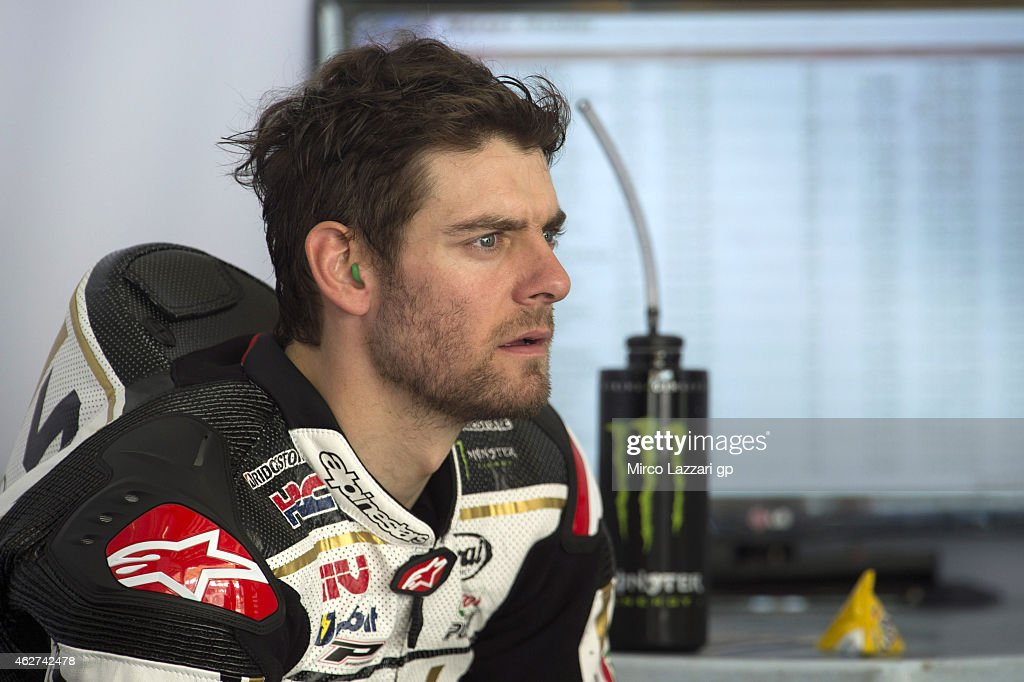 Cal Crutchlow of Great Britain and CWM LCR Honda looks on in box during day one of the MotoGP tests at Sepang Circuit Sepang Circuit on February 4, 2015 in Kuala Lumpur, Malaysia.