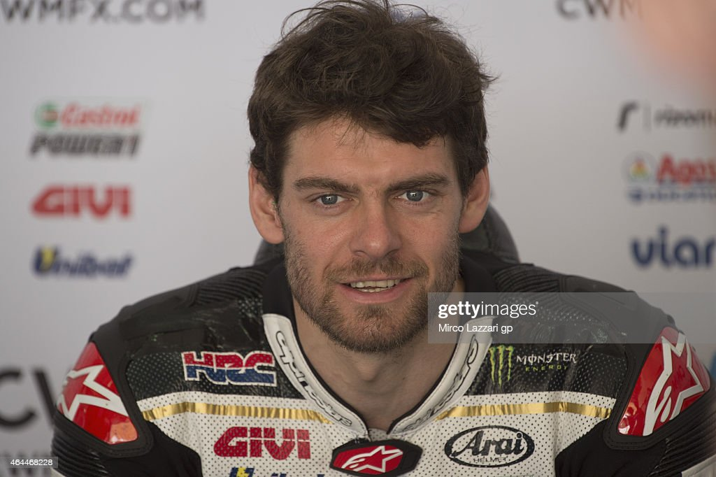 <a gi-track='captionPersonalityLinkClicked' href=/galleries/search?phrase=Cal+Crutchlow&family=editorial&specificpeople=4261131 ng-click='$event.stopPropagation()'>Cal Crutchlow</a> of Great Britain and CWM LCR Honda looks on in box during the Michelin test tyres during MotoGP Tests in Sepang - Day Four at Sepang Circuit on February 26, 2015 in Kuala Lumpur, Malaysia.