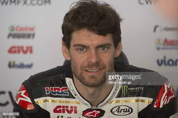 Cal Crutchlow of Great Britain and CWM LCR Honda looks on in box during the Michelin test tyres during MotoGP Tests in Sepang Day Four at Sepang...