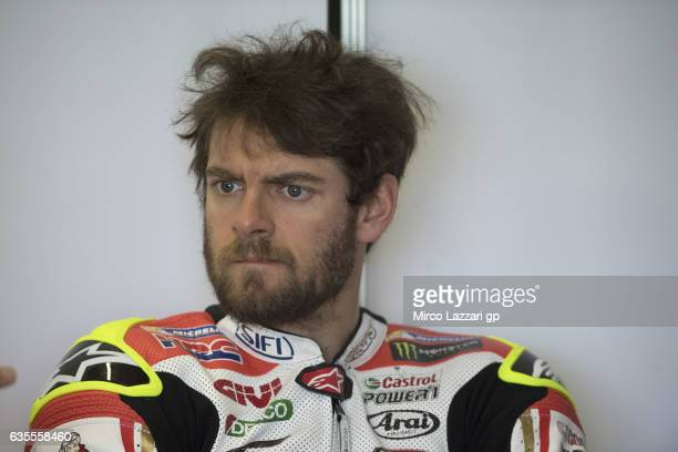 Cal Crutchlow of Great Britain and LCR Honda looks on in box during 2017 MotoGP preseason testing at Phillip Island Grand Prix Circuit on February 16...