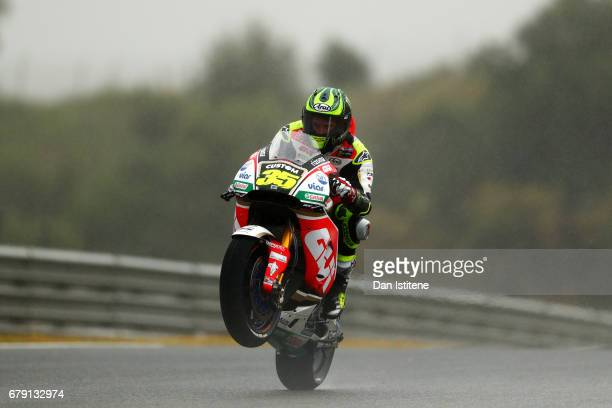 Cal Crutchlow of Great Britain and LCR Honda rides during free practice for the MotoGP of Spain at Circuito de Jerez on May 5 2017 in Jerez de la...