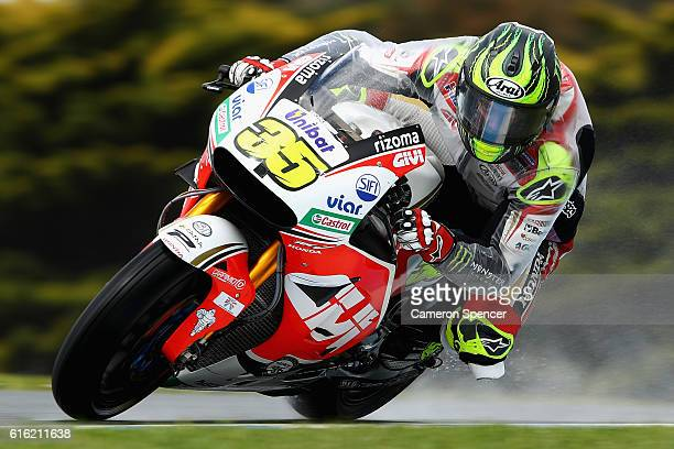 Cal Crutchlow of Great Britain and LCR Honda rides during qualifying for the 2016 MotoGP of Australia at Phillip Island Grand Prix Circuit on October...