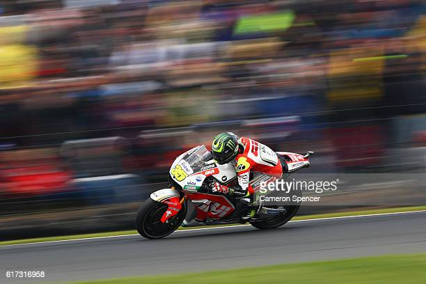 Cal Crutchlow of Great Britain and LCR Honda rides during the 2016 MotoGP of Australia at Phillip Island Grand Prix Circuit on October 23 2016 in...