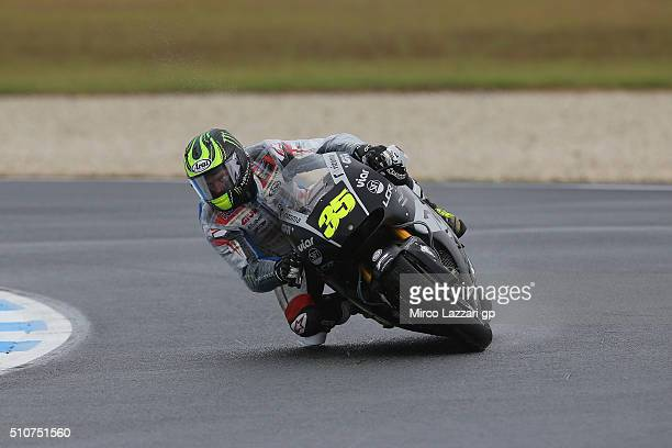 Cal Crutchlow of Great Britain and LCR Honda rounds the bend during the 2016 MotoGP Test Day at Phillip Island Grand Prix Circuit on February 17 2016...