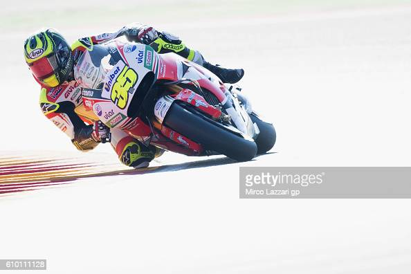 Cal Crutchlow of Great Britain and LCR Honda rounds the bend during the MotoGP of Spain Qualifying at Motorland Aragon Circuit on September 24 2016...