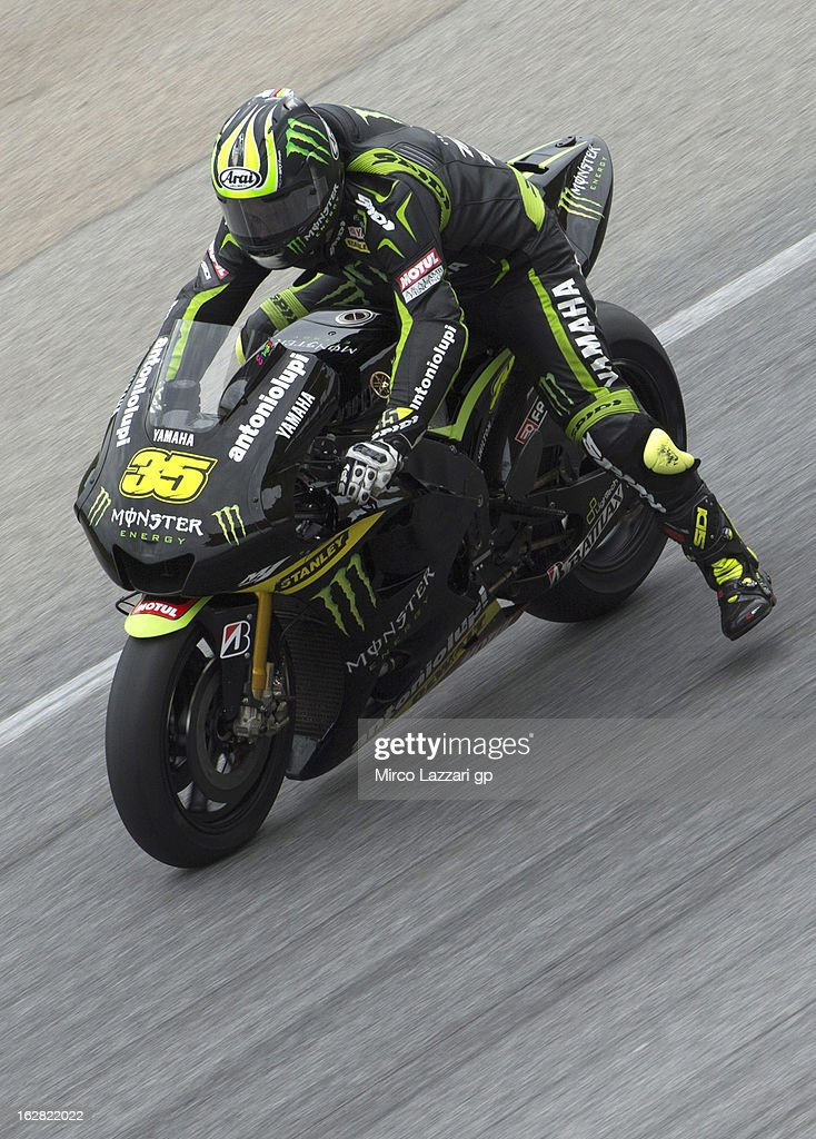 Cal Crutchlow of Great Britain and Monster Yamaha Tech 3 heads down a straight during MotoGP Tests in Sepang - Day Three at Sepang Circuit on February 28, 2013 in Kuala Lumpur, Malaysia.