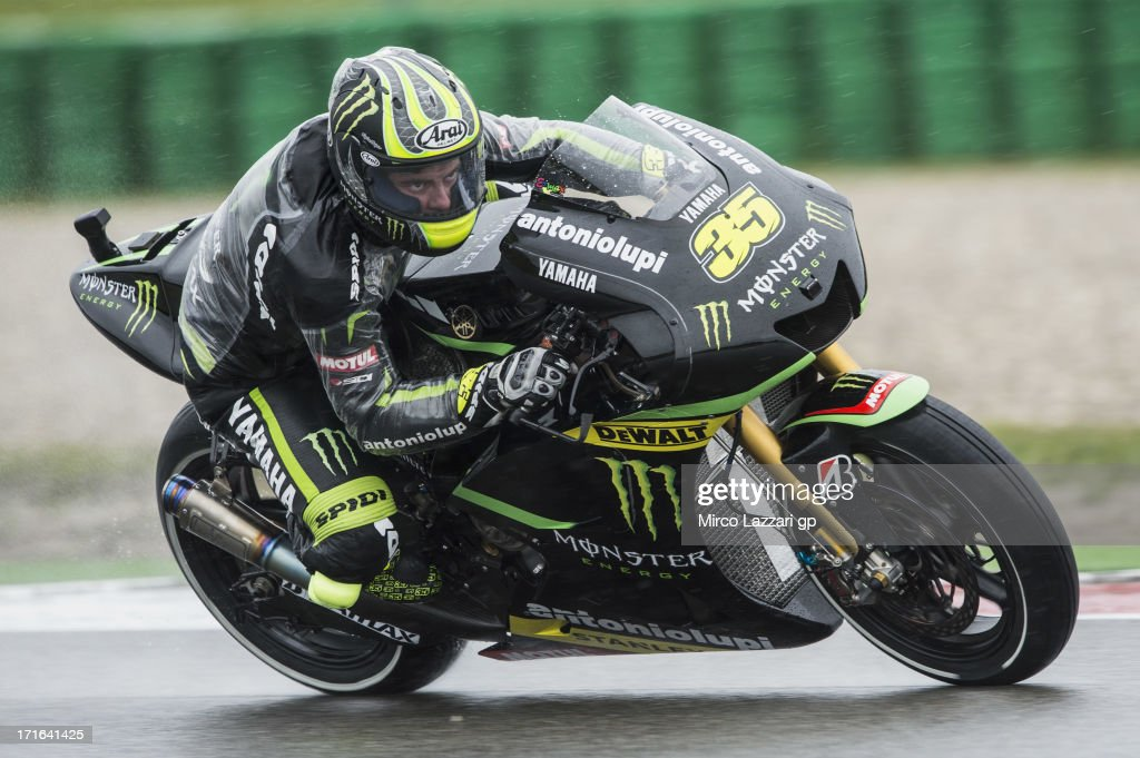 <a gi-track='captionPersonalityLinkClicked' href=/galleries/search?phrase=Cal+Crutchlow&family=editorial&specificpeople=4261131 ng-click='$event.stopPropagation()'>Cal Crutchlow</a> of Great Britain and Monster Yamaha Tech 3 heads down a straight during the MotoGp Of Holland - Free Practice at TT Circuit Assen on June 27, 2013 in Assen, Netherlands.