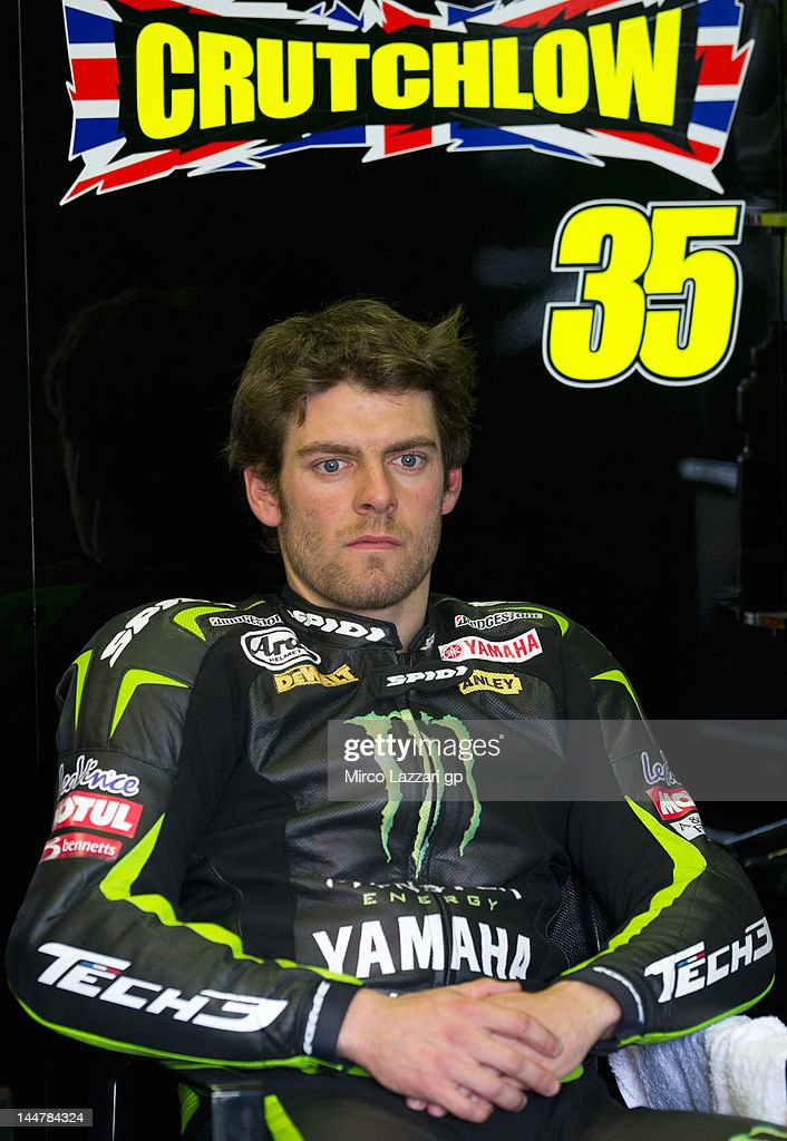 <a gi-track='captionPersonalityLinkClicked' href=/galleries/search?phrase=Cal+Crutchlow&family=editorial&specificpeople=4261131 ng-click='$event.stopPropagation()'>Cal Crutchlow</a> of Great Britain and Monster Yamaha Tech 3 looks on in box during the qualifying practice of the MotoGp Of France on May 19, 2012 in Le Mans, France.