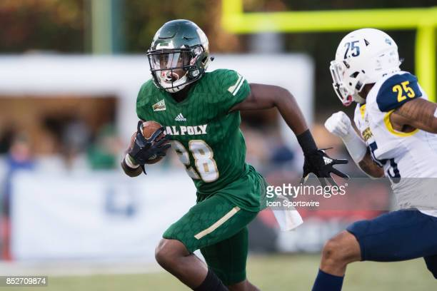 Cal Poly Mustangs running back Chuby Dunu during the game between the Northern Arizona Lumberjacks and the Cal Poly Mustangs on September 23 at Alex...