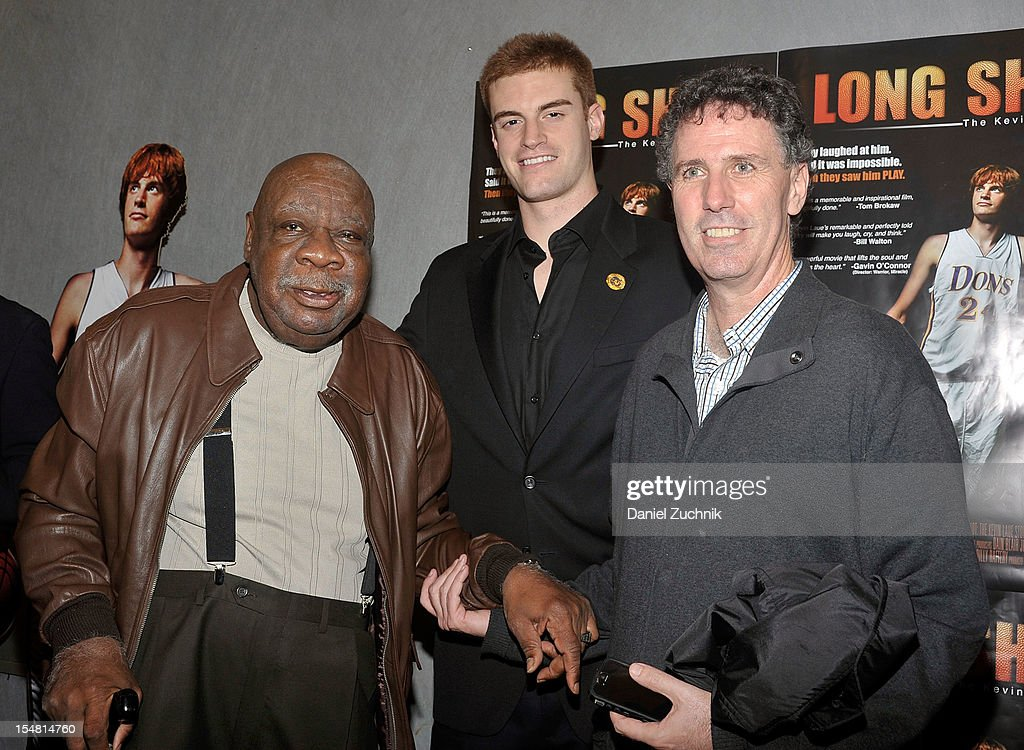 Cal Ramsey(L) and Kevin Laue(C) attend the 'Long Shot: The Kevin Laue Story' New York Premiere at Quad Cinema on October 26, 2012 in New York City.