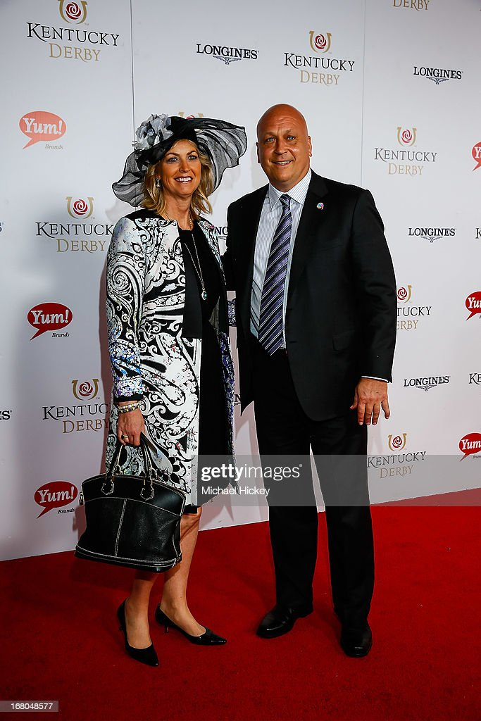 <a gi-track='captionPersonalityLinkClicked' href=/galleries/search?phrase=Cal+Ripken+Jr&family=editorial&specificpeople=157500 ng-click='$event.stopPropagation()'>Cal Ripken Jr</a> attends 139th Kentucky Derby at Churchill Downs on May 4, 2013 in Louisville, Kentucky.