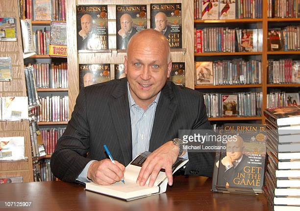 Cal Ripken Jr during Cal Ripken Jr InStore Booksigning of 'Get In The Game' and 'The Longest Season' at Borders Wall Street in New York City New York...