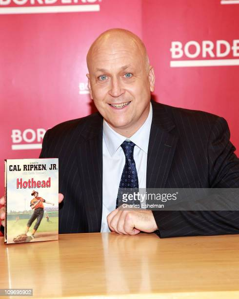 Cal Ripken Jr former Major League Baseball shortstop promotes his new book 'Hothead' at Borders Columbus Circle on March 1 2011 in New York City