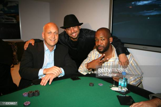 Cal Ripken Jr Nick Storm and guest during Alex Rodriguez and Jay Z Celebrity Poker Tournament Inside at 40/40 Club in New York United States
