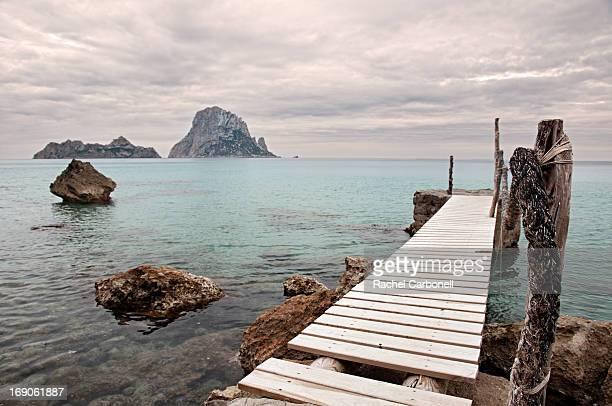 Cala D´Hort pier and Es Vedrá islet, Ibiza