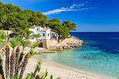 Cala Gat at Ratjada - beautiful beach and coast of Mallorca, Spain