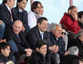 Calabria Governor Giuseppe Scopelliti attends the Serie B match between Reggina Calcio and FC Crotone at Stadio Oreste Granillo on April 14 2012 in...