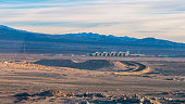 Calama airport seen from the distance