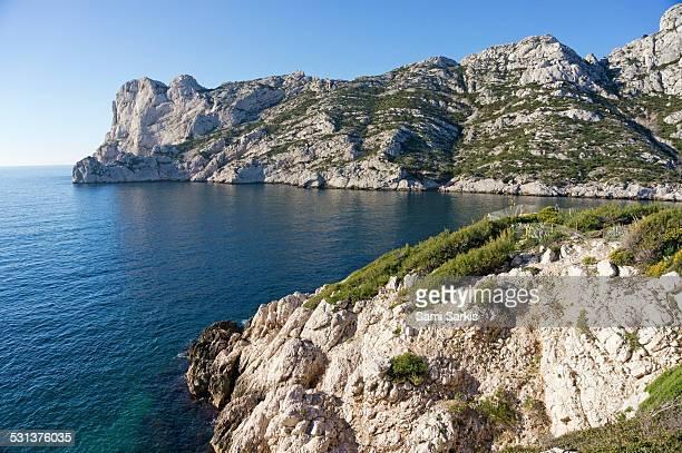 Calanque de Sormiou and mediterranean sea