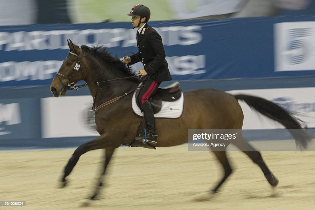 Calasanti Alessandro (Italy) during the men's relay World Championship in modern pentathlon in Moscow in Olympic Sports Complex in Moscow, Russia, on May 24, 2016.