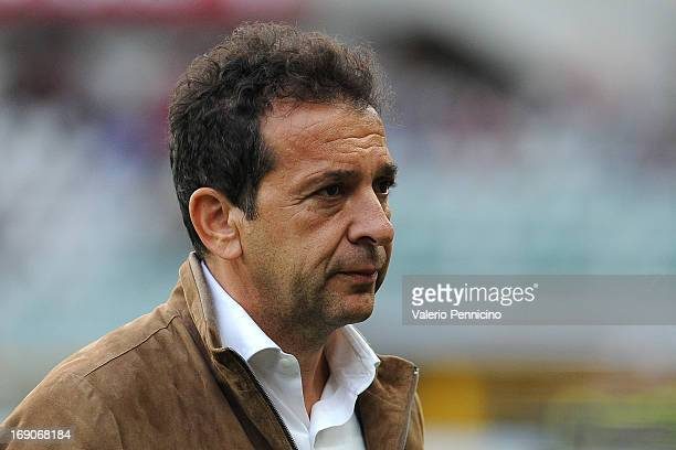 Calcio Catania president Antonino Pulvirenti looks on prior to the Serie A match between Torino FC and Calcio Catania at Stadio Olimpico di Torino on...